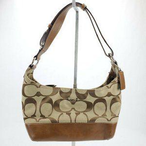 Super Classy COACH Brown/Tan Canvas Purse Handbag